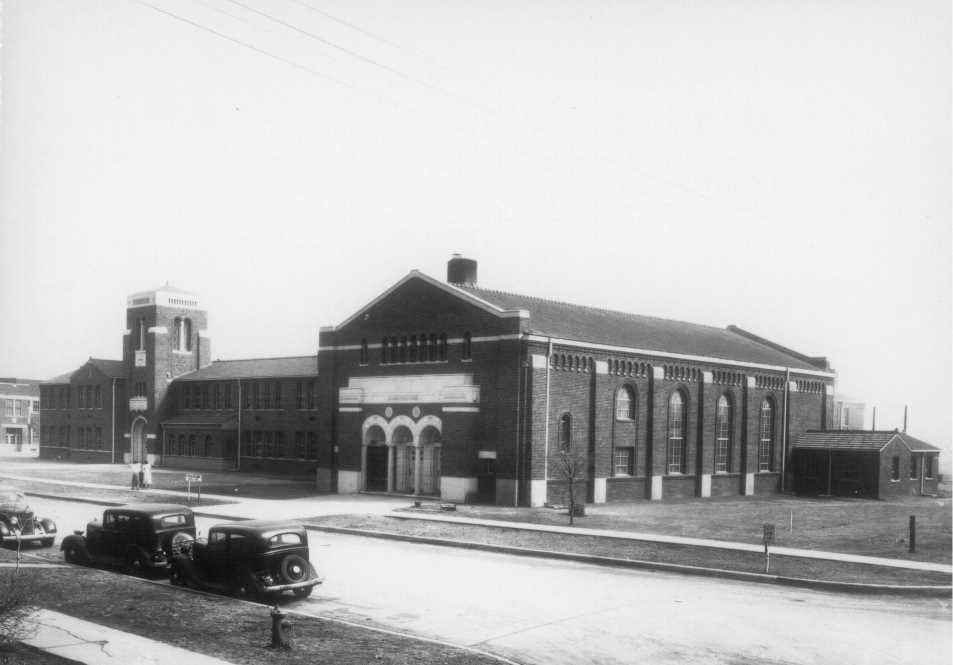 Colby High School in 1935, now Intermediate Building