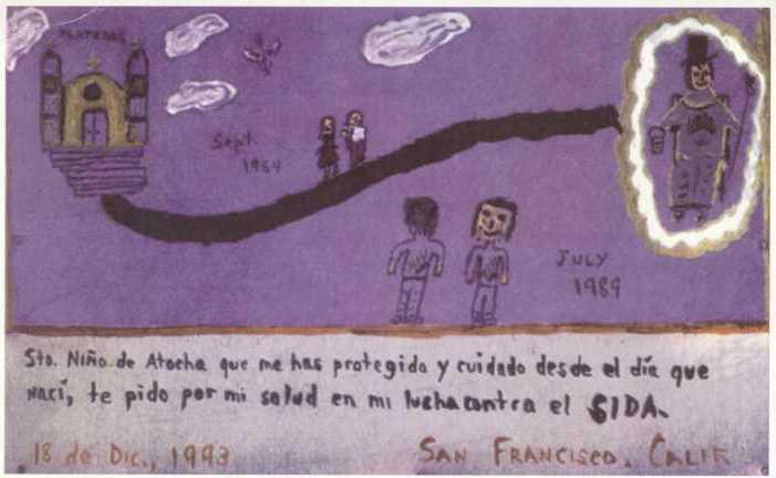 Juan's original artwork from his memorial service