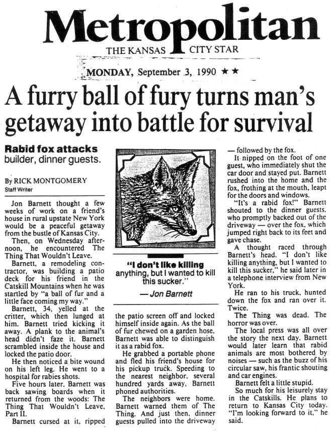 Kansas City Star, September 3, 1990