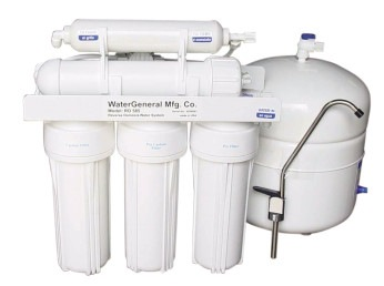 The GE membrane in General Water's RO585 model reverse osmosis water purification system contains a GE