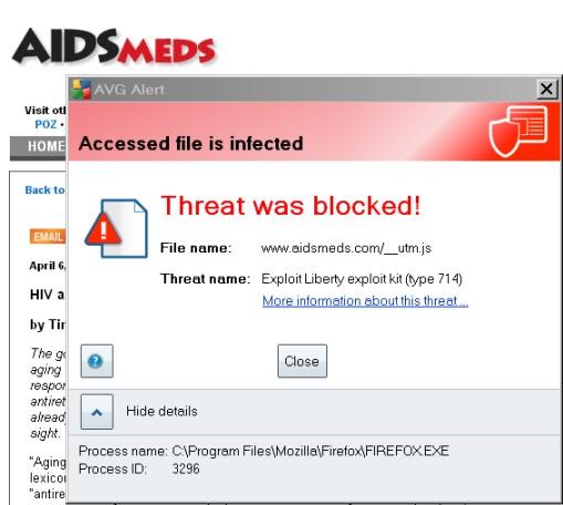 anti-virus alert from aidsmed.com