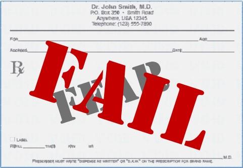 Prescription for Fear:  FAIL