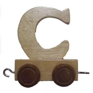 "Letter ""C"" toy train"