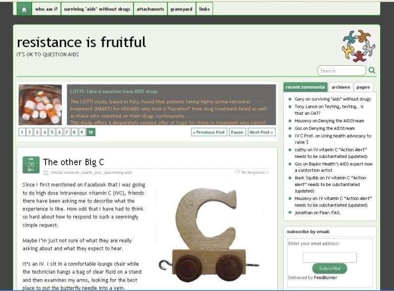 Screenshot of my blog using the theme Suffusion