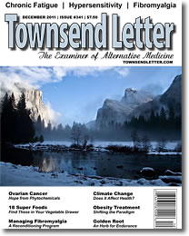 Cover of December 2011 issue of Townsend Letter